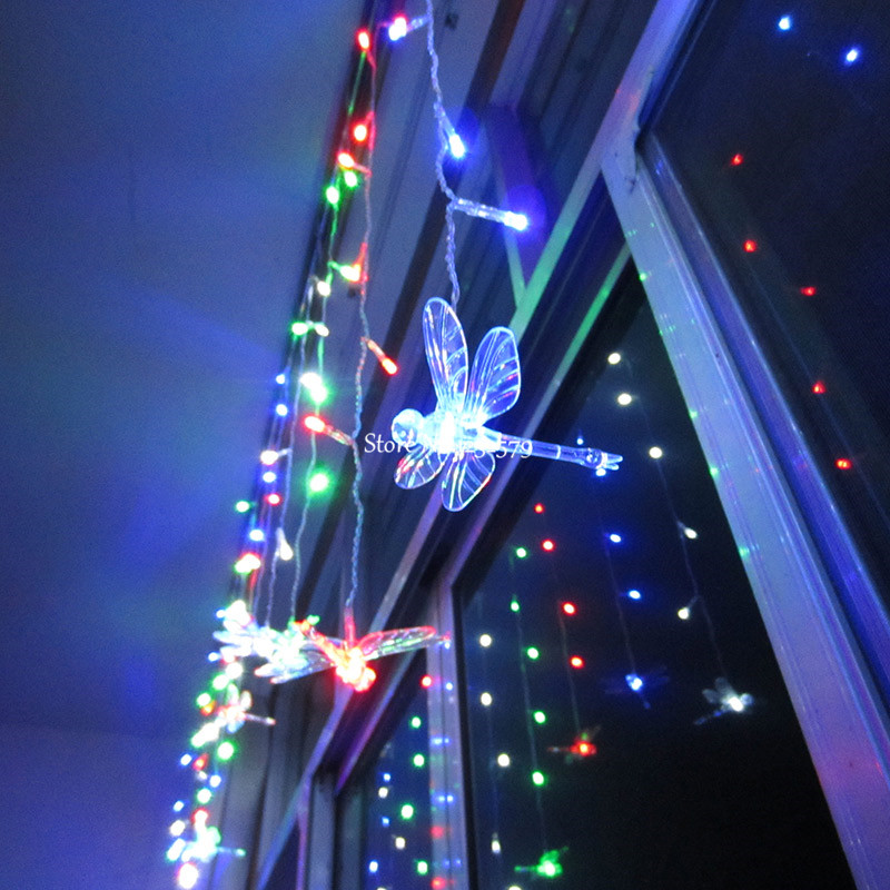 Christmas Curtain Lights for Windows Promotion-Shop for Promotional Christmas Curtain Lights for ...