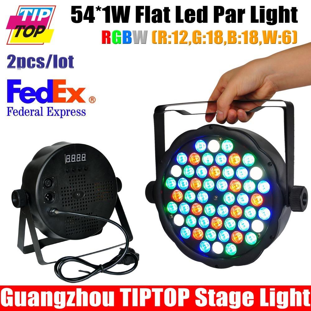 New Arrival Super Slim Flat Led Par Light 54*1W RGBW Color Mixing DMX Led Par Cans Small Size 8Channels Hi-Quality 2XLOT TIPTOP(China (Mainland))