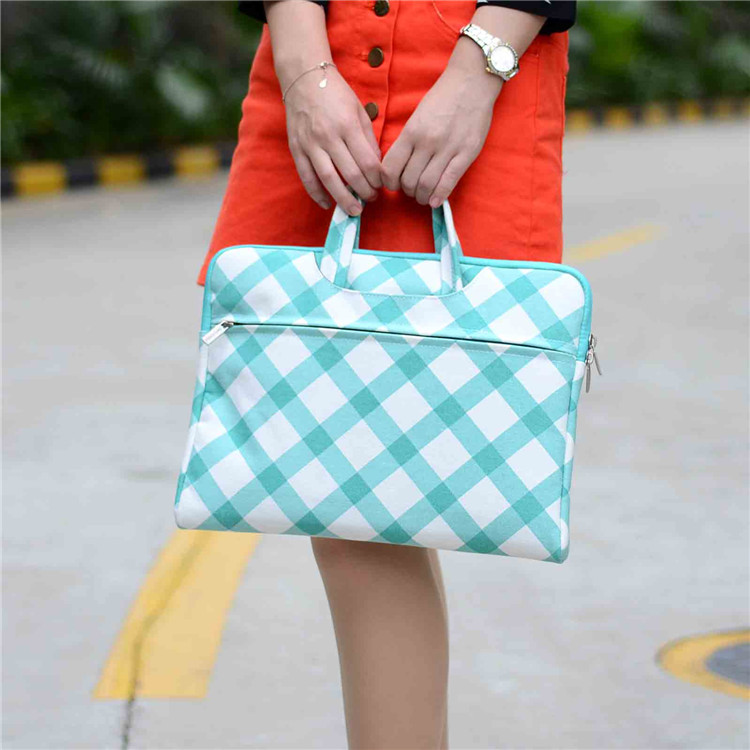 Square pattern Canvas Laptop handbag Case for macbook air pro retina 13 Bag for 13.3inch Ultrabook thin computer tablet(China (Mainland))