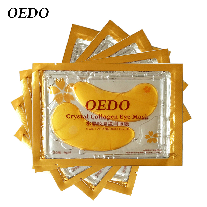 10pcs/lot Gold Crystal Collagen Eye Mask Skin Care Eye Patches Crystal beauty Anti Dark Circle Anti-Puffiness 10pcs=5packs(China (Mainland))