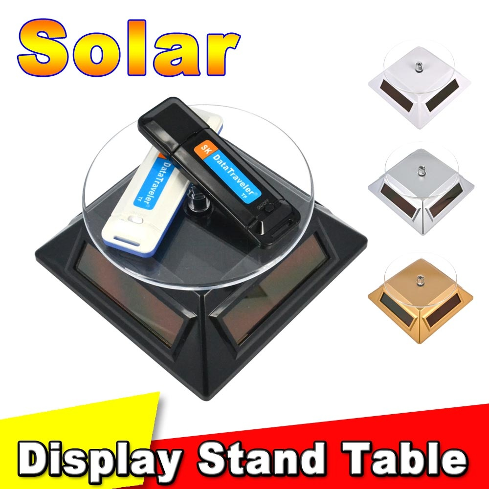 Colorful Solar 360 Auto Turntable Rotating rotation Showcase Solar Powered Turntable Rotary Jewelry Display Stand For Exhibition(China (Mainland))