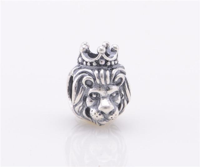 Подходит пандора браслет аутентичные 925 серебряные ювелирные изделия бусины животных короновать львиная голова женщины DIY мода ювелирных изделий
