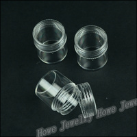 Wholesale 30pcs Hot  Portable 29*25mm  Transparent Plastic Cylindrical Box  Jewelry Storage Box  Makeup  Jewelry Box HZ0012