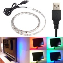 USB Power Highlight 0.5/1/2/5M DC5V 3528SMD noWaterproof RGB Backgroud Lighting LED Strip Indoor Home Decoration(China (Mainland))