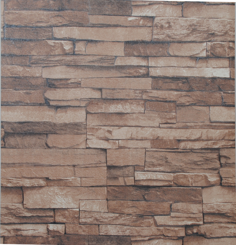 Vinyl textured embossed brick wall wallpaper modern 3d for 3d stone wallpaper for walls