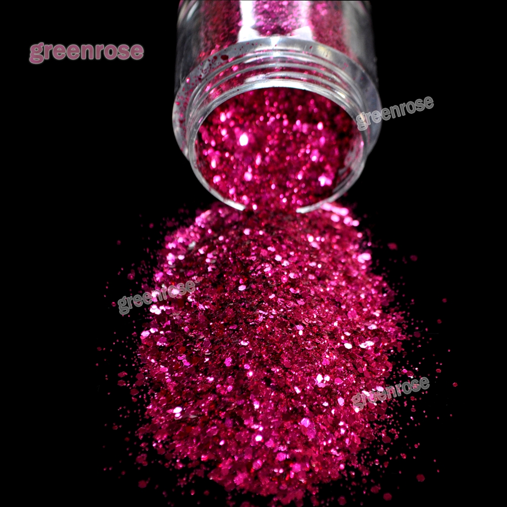 Dazzling Rose Red Nail Art Tip Decoration Glitters Dust Powder Mix Sequins DIY Women Nail 3D Nail Art Decoration MG-00768(China (Mainland))