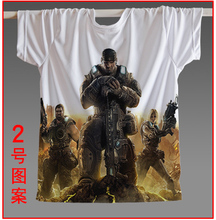 2016 Special Offer Freeshipping Novelty Knitted Hot Game Tee Epic Games Shirts Gears of War 3 Official Men T-shirt All Sizes
