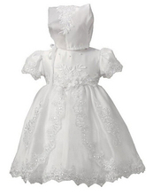 White ivory lace infant baptism baby girl christening gowns long dress princess 1 year birthday party dresses  90142