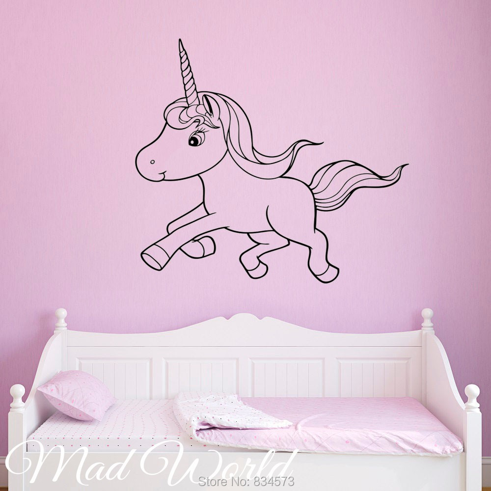 Poney mur art promotion achetez des poney mur art for Decoration murale licorne