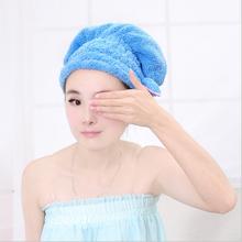 4 Colors Coral Fleece Pure Color Women Super Absorbent Bath Hat Hair Dry Shower Bath Caps.(China (Mainland))