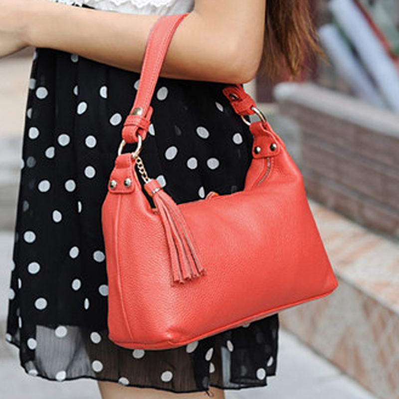 Genuine leather women's handbag all-match brief young girl small bags summer 2014 messenger bag