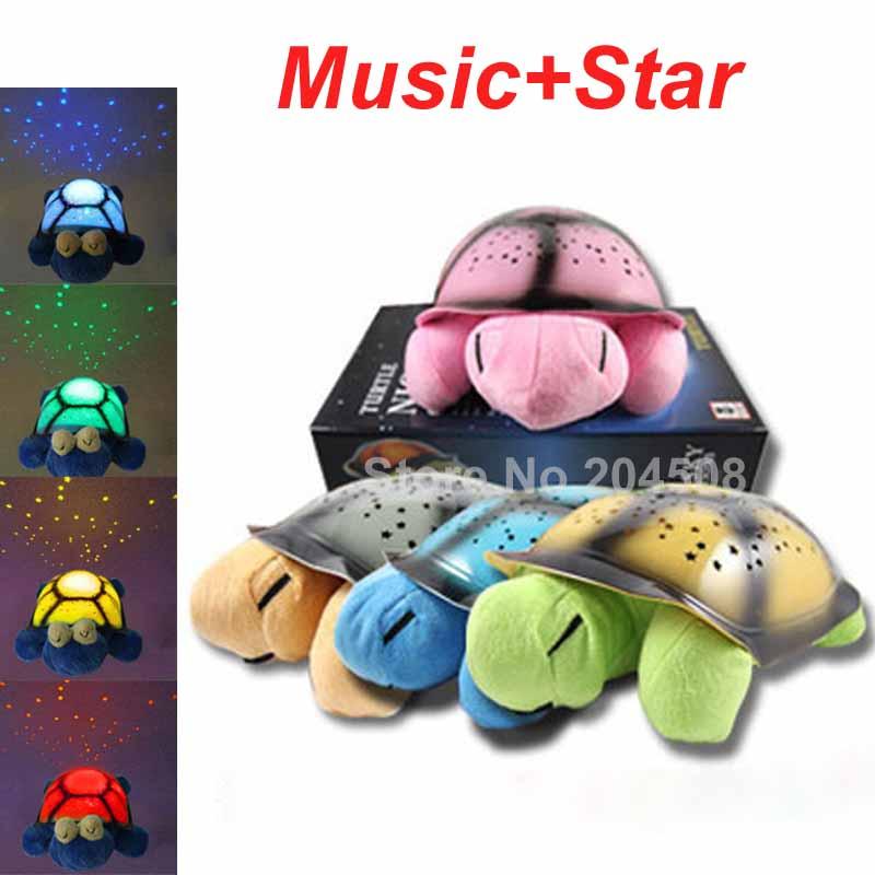 Beautiful Night Light Music+Stars Projector Constellation LampToye 4 Colors Christmas Birthday gift(China (Mainland))