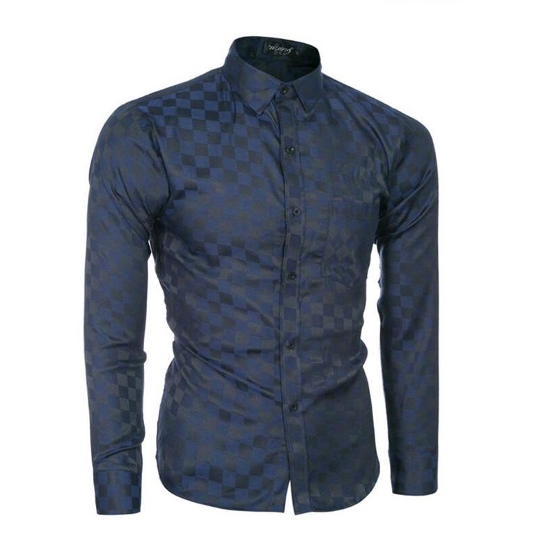 2016 NEW Men's Long sleeves dress shirts spring summer casual plaid shirt men Fashion bussines cotton shirts for man large size(China (Mainland))