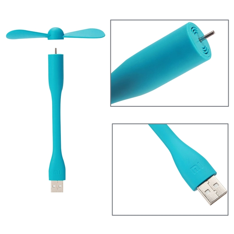 Brand New Original Xiaomi Portable Flexible Handheld Mute USB Computer Laptop Cooling Fan Blower Size 145.5 * 15 * 89.3 mm(China (Mainland))