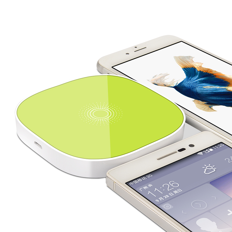 Inductive Qi Wireless Charger for Samsung HTC LG Qi Wireless Charger for iPhone 4/4s/5/5s/5c/6/6s/6+ QI Mobile Phone Charger