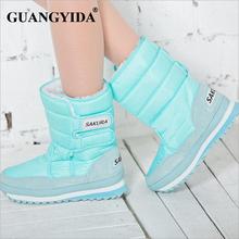 Plus size 35-42 women waterproof snow boots snowflake cotton super warm shoes women winter platform ankle boots 266(China (Mainland))