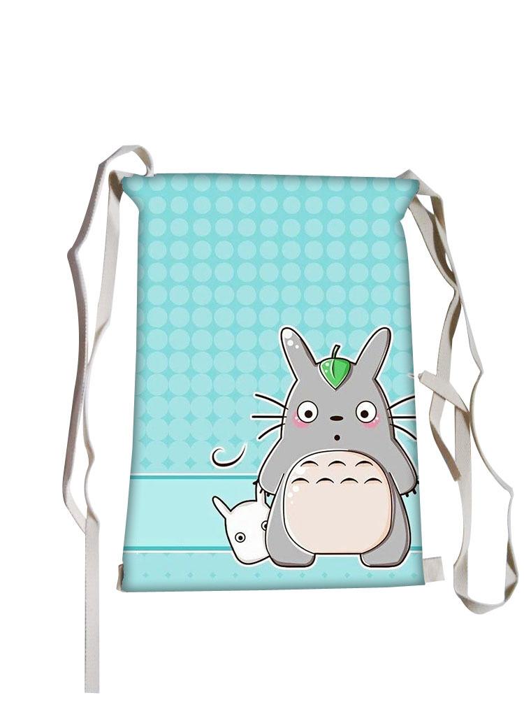 Tonari no Totoro Drawstring bag best seller women bags printing backpack for teenage girls children school sport canvas bookbag(China (Mainland))