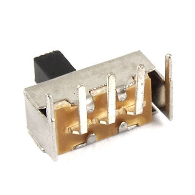 10 Pcs 5mm High Knob 3 Pin 2 Position SPDT Right Angle Slide Switch 0.1A 12V DC<br><br>Aliexpress