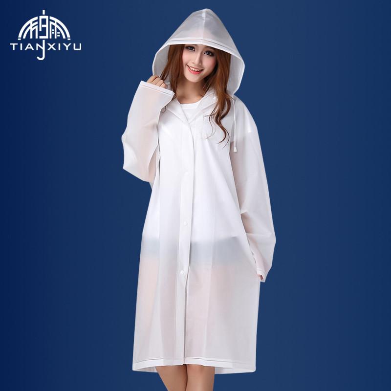 2017 new outdoor adult rain coat, men's and women's fashion translucent matte thickened EVA raincoat free shipping