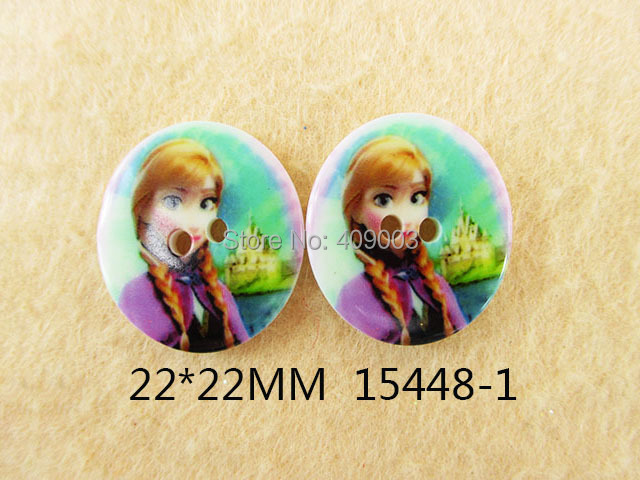 25Y15448 freeshipping 22*22mm 2 Holes flat back resin button children's clothes buttons resins carfts(China (Mainland))