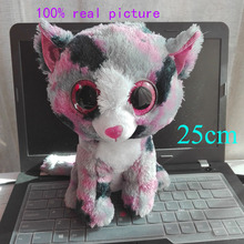 Buy 25CM 10' Stock Original 2016 New Ty Beanie Boos Big Eyed Stuffed Animal LINDI cat pink Kids Toy Birthday Gift Plush Toy for $9.99 in AliExpress store