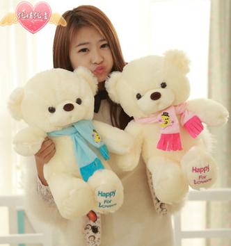 Genuine hug teddy bear urso de pelucia plush toys 30cmChildren Ai Taidi Scarf Scarf Bear Teddy Bear Gift Plush dolls Brinquedos(China (Mainland))