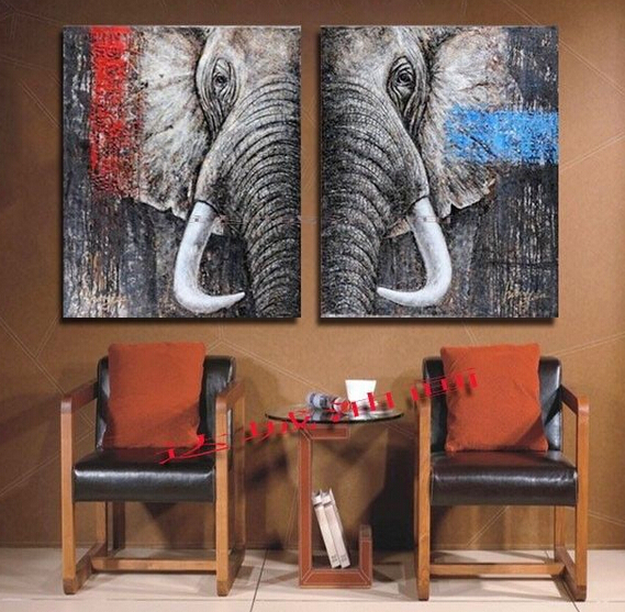 Christmas decor art elephant top home art painting 2p large 1856 in painting calligraphy Elephant home decor items