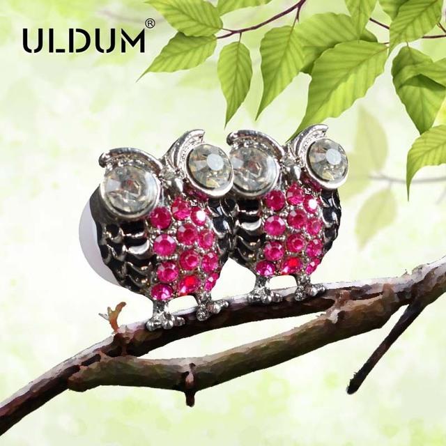 Uldum metal owl personality earphones mobile phone in ear earphones heatshrinked single hole earphones headset one piece