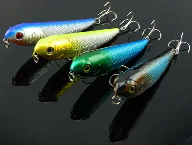50pcs/lot 100mm Pencil fishing lures 13.7g 10cm floating lures hooks plastic hard fishing lures stick (PE004) free shipping<br><br>Aliexpress