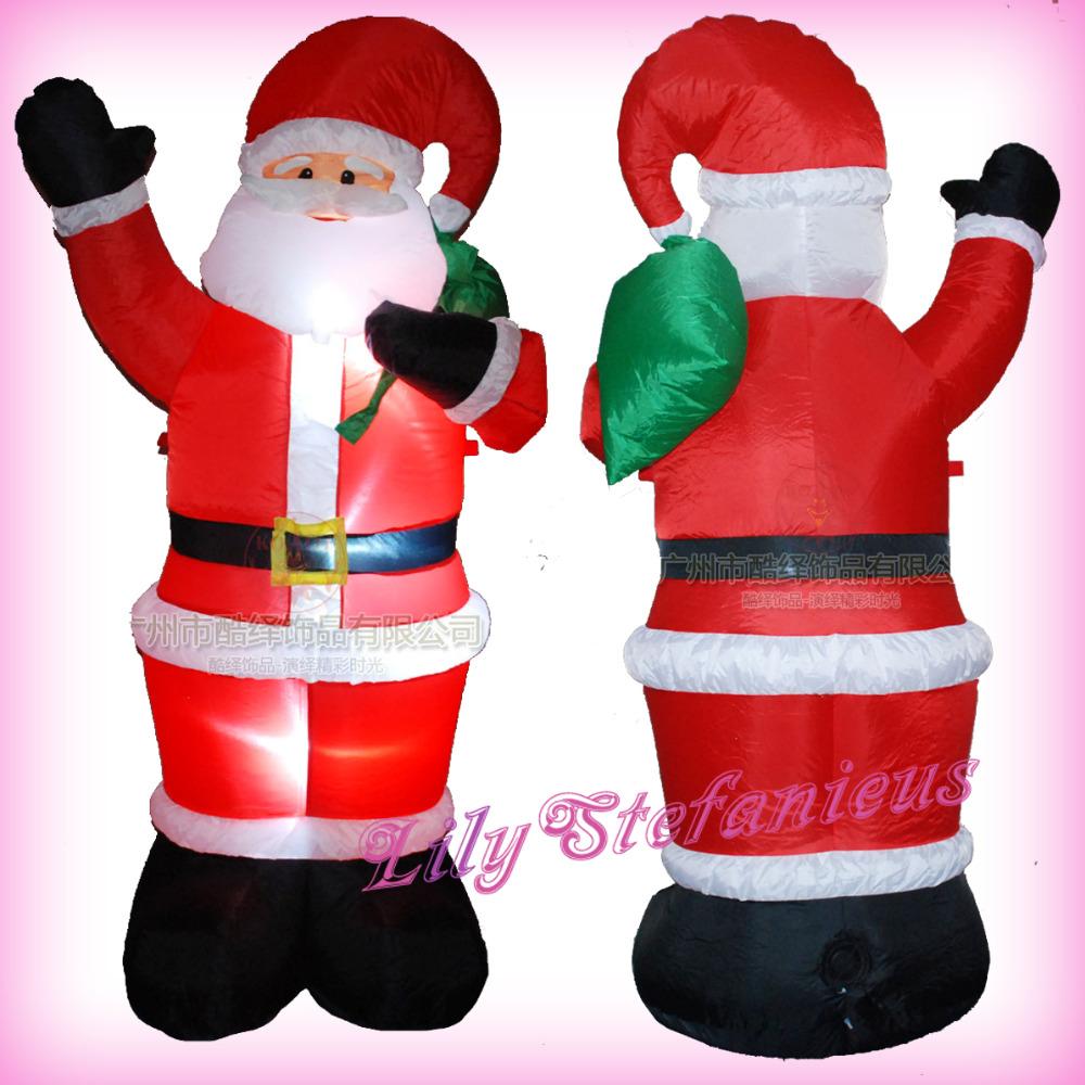 New cartoon christmas inflatable scene santa claus air