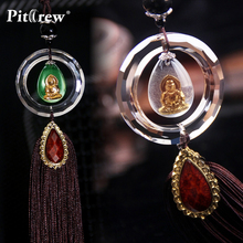 """Luxury Replica Crystal """"Wish Your Happiness"""" Car Pendant Car Accessories Hanging Ornament For Car Rearview Mirror(China (Mainland))"""
