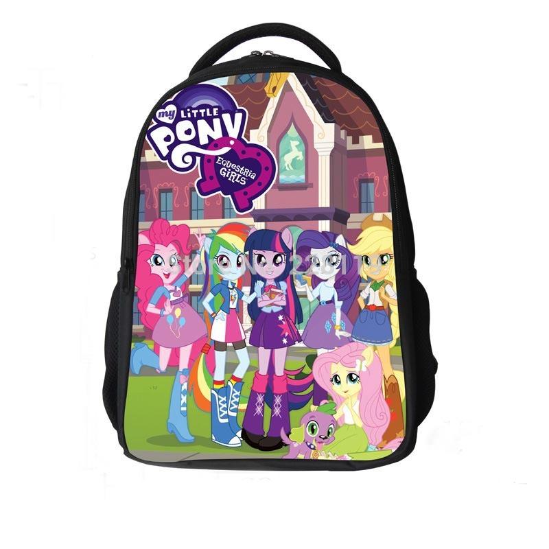 Cute Children Schoolbag For Girl My Little Pony School Bags Mochila Infantil School Backpack Cartoon Bag Bolsas Kids Backpack(China (Mainland))