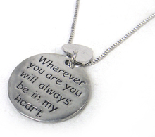 """New item free Shipping fashion letter charm pendant """"wherever you are you will always be in my heart' ball chain women necklace(China (Mainland))"""