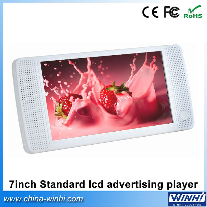7 inch HD standard plastic shell indoor USB SD Auto play digital signage advertising display(China (Mainland))