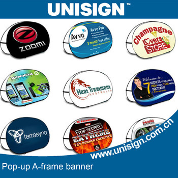 promotional pop up A frame in customized size and design