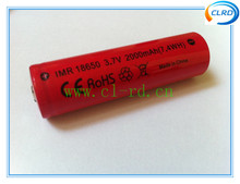 2000mAh 3.7V high drain AW IMR 18650 Free shipping 2pcs/lot Rechargeable battery for e-cig