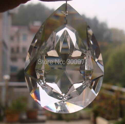 100pcs/lot 63mm crystal glass prism suncatcher lighting part pendant free shipping <br><br>Aliexpress