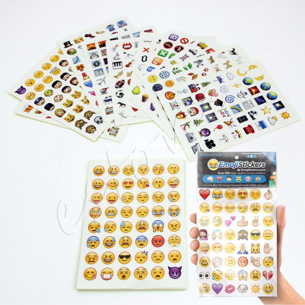 Free shipping Emoji Sticker Pack 912 Die Cut Stickers For iP Twitter Large Viny Instagram