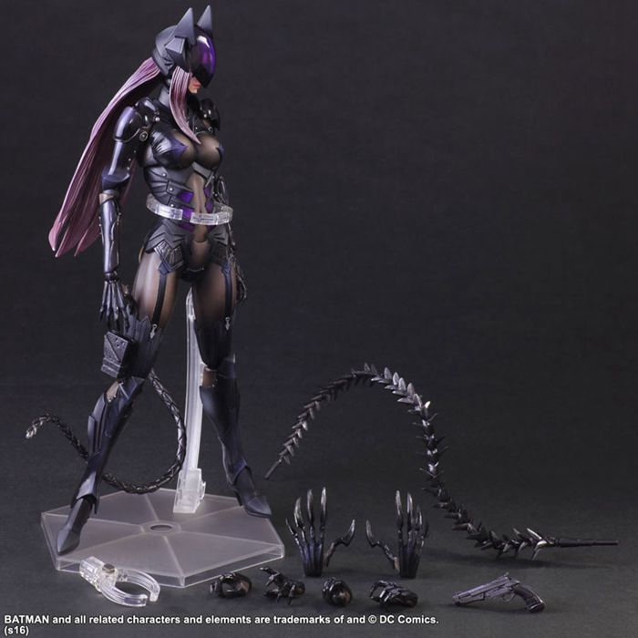 Catwoman Action Figure Playarts Kai Collection Model Anime Toy Movie Bat Man Play Arts Kai Catwoman 270mm(China (Mainland))