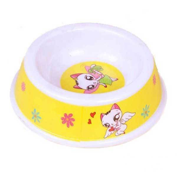 AgateDeal Small Size Lovely Pet Cartoon Pattern Plastic Feeder Bowl(China (Mainland))