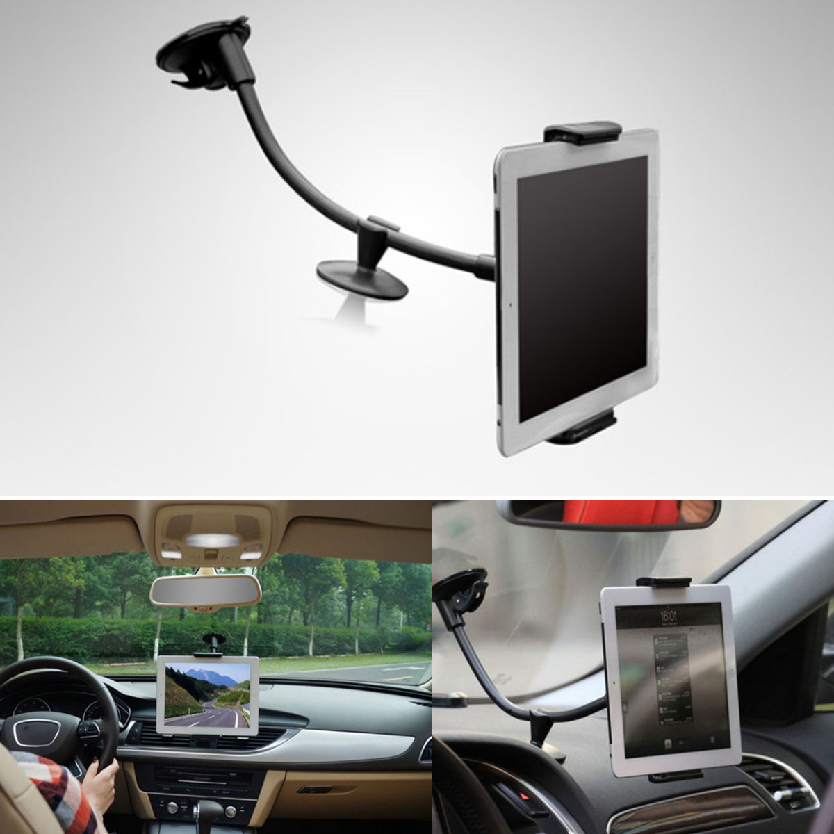 New Arrival Universal 360 2in1 Car Windshield Mount Holder Stand for Mobile Phone Tablet PC GPS 7-10 for iPad for Amazon Kindle(China (Mainland))