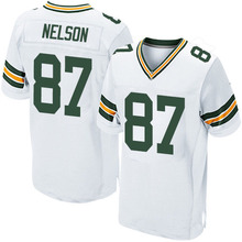 Men's #87 Jordy Nelson Elite White Football Jersey 100% stitched(China (Mainland))