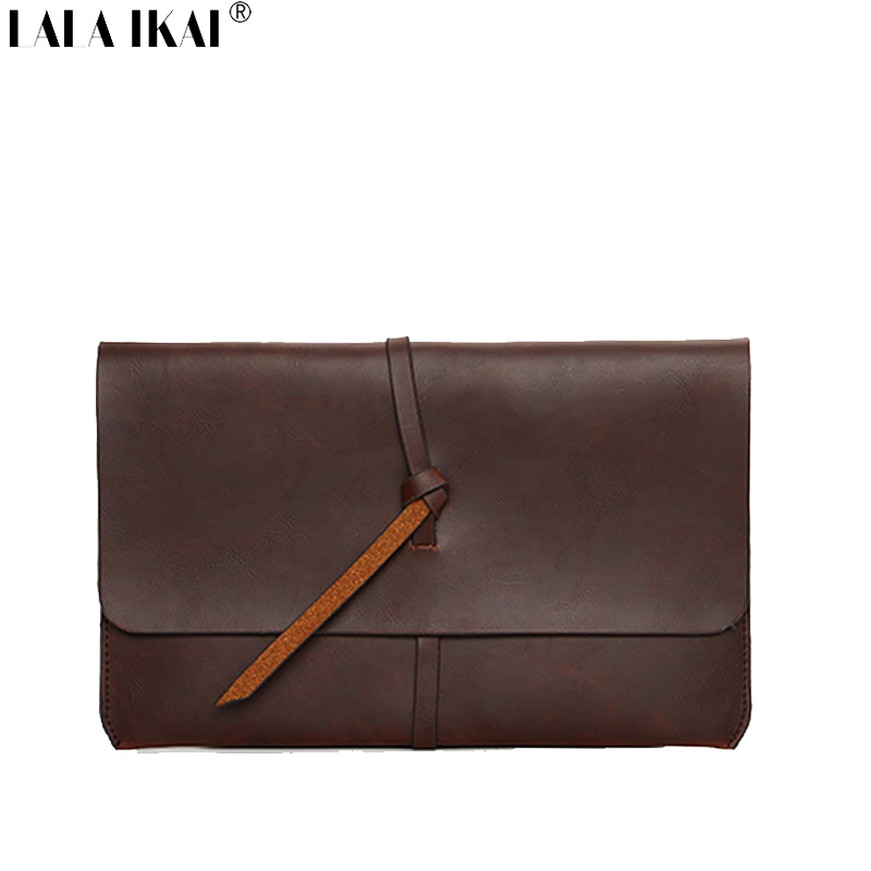 LALA IKAI Designer Brand Men Clutch Bags Business Wallet Purse British Style Male Clutches Leather Document Bags BMF0002(China (Mainland))