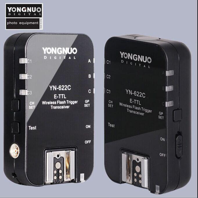 Yongnuo YN-622C YN 622C Wireless TTL Flash Trigger for Canon 1100D 1000D 650D 600D 550D 7D 5DII 40D 50D<br><br>Aliexpress
