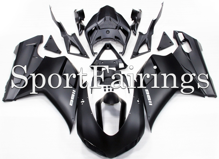 Fairings For Ducati 1098 848 1198 1098s 848s 1198s 07 08 09 10 11 12 ABS Plastic Full Fairing Kit Cowling Body Work Matte Black(China (Mainland))