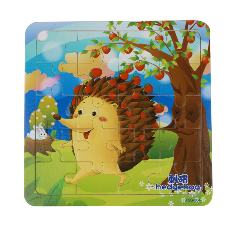 New Arrival Baby Kids Wooden Puzzle Educational Developmental Baby Kids Training Toy Puzzle Toy Children Cartoon  Toy Gift Hot
