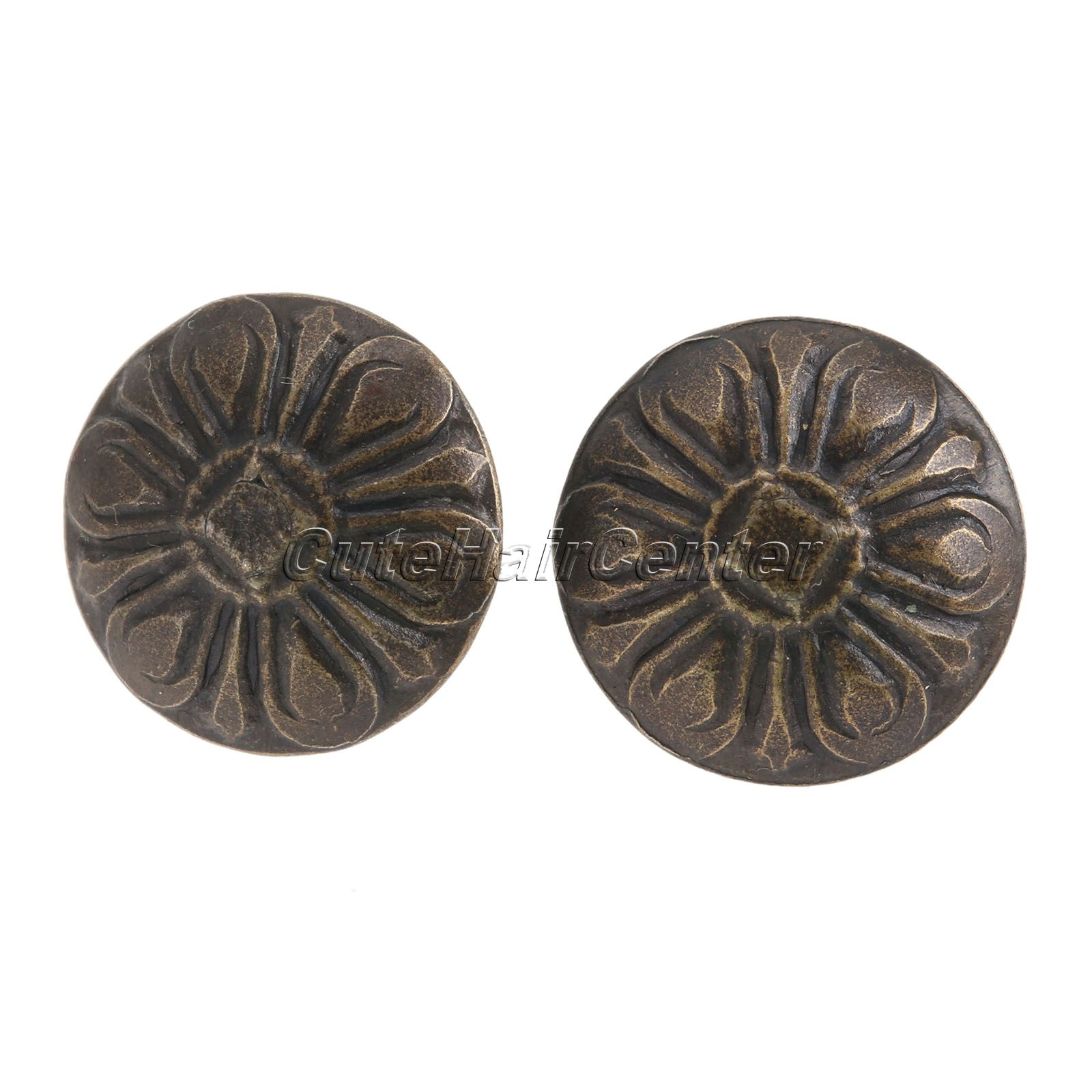 Hot Selling 100Pcs Iron <font><b>Elegant</b></font> Bronze Upholstery Nails Tacks Studs Vintage Style Furniture Fix For <font><b>Home</b></font> <font><b>Decoration</b></font>