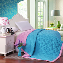 100% microfiber fabric summer quilts/comforter printed double colors free shipping four sizes for adults(China (Mainland))