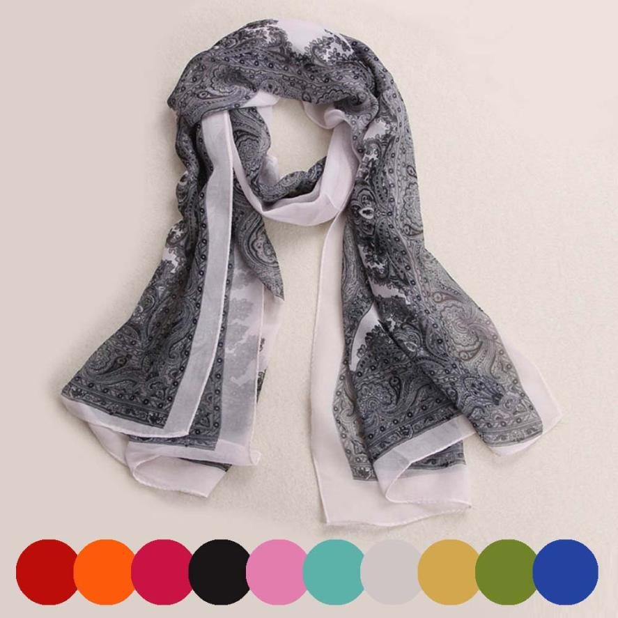 Delicate Women Printed Designer Fashion Lady Long Soft Chiffon Scarf Wrap Shawl Stole Scarves nor5904Одежда и ак�е��уары<br><br><br>Aliexpress