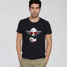 Известные фильмы дизайн логотипа звездные войны DJ йода мужчины майка мастер забавный техно наушники мода звездные войны мужчины футболки